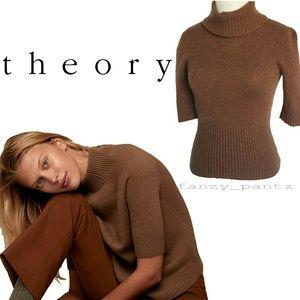 Theory Cashmere turtleneck short sleeve sweater